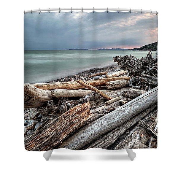 On The Beach Shower Curtain