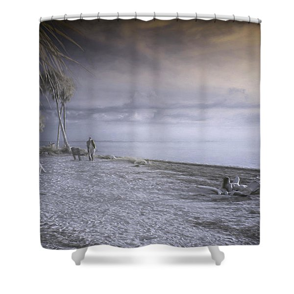 On The Beach Shower Curtain