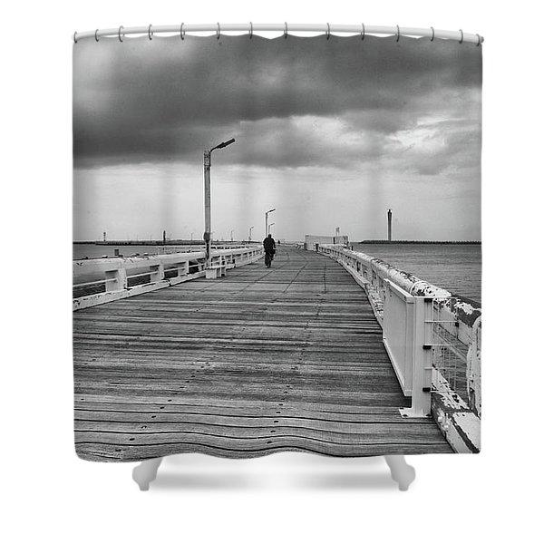 On The Boardwalk 2 Shower Curtain