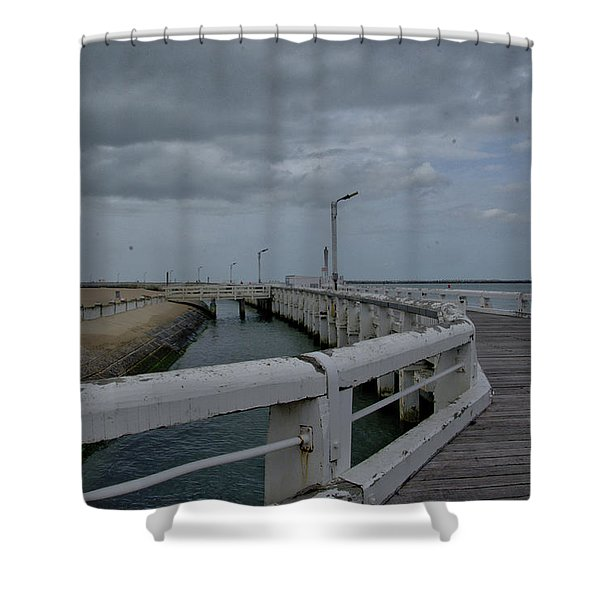 On The Boardwalk Shower Curtain