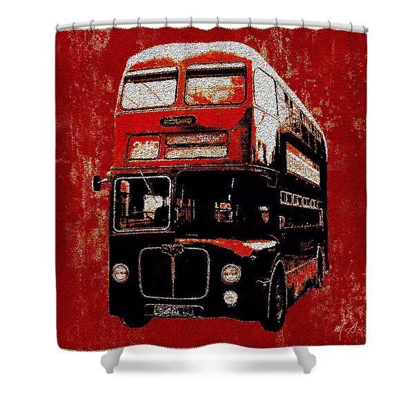 Shower Curtain featuring the painting On The Bus by Mark Taylor