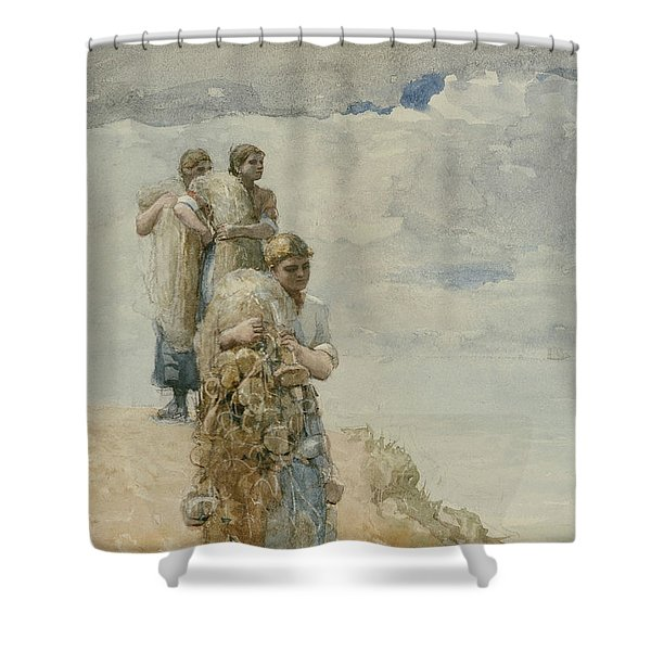 On The Cliff Cullercoats Shower Curtain