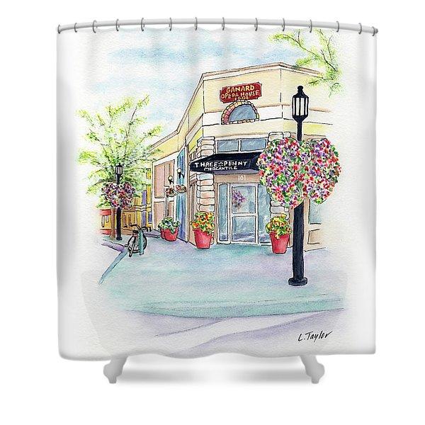 On The Corner Shower Curtain