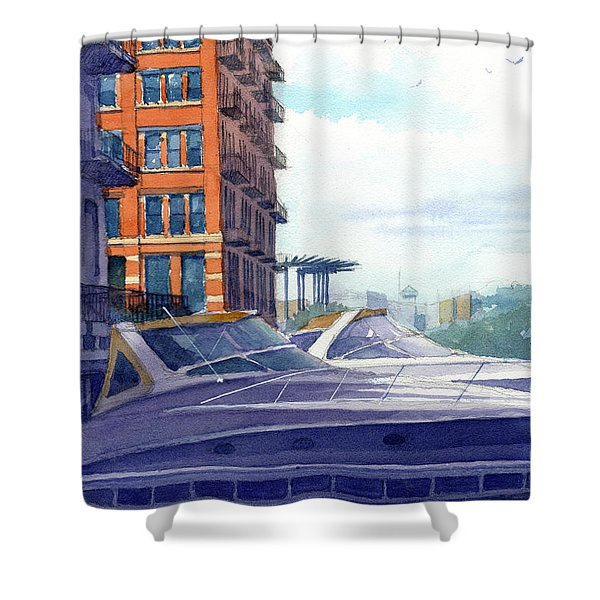 On The Docks Shower Curtain