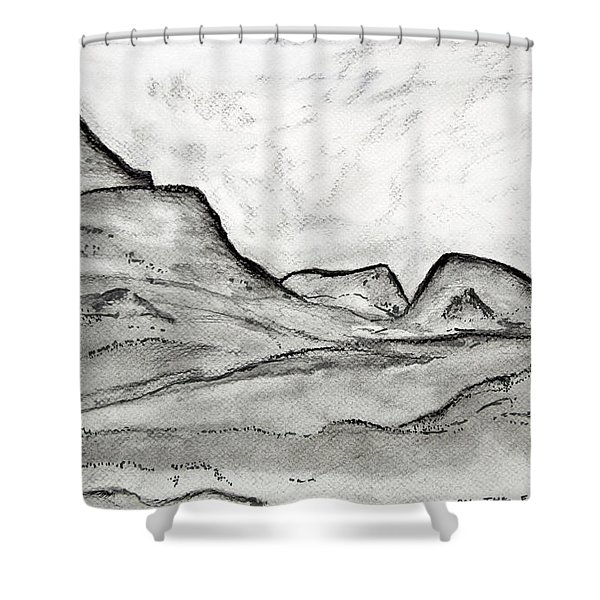 On The East Face Shower Curtain