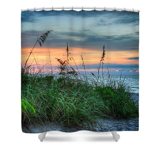 On The Edge Of Sunrise Shower Curtain