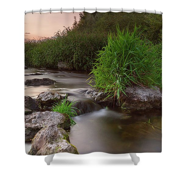On The Edge Of Time Shower Curtain