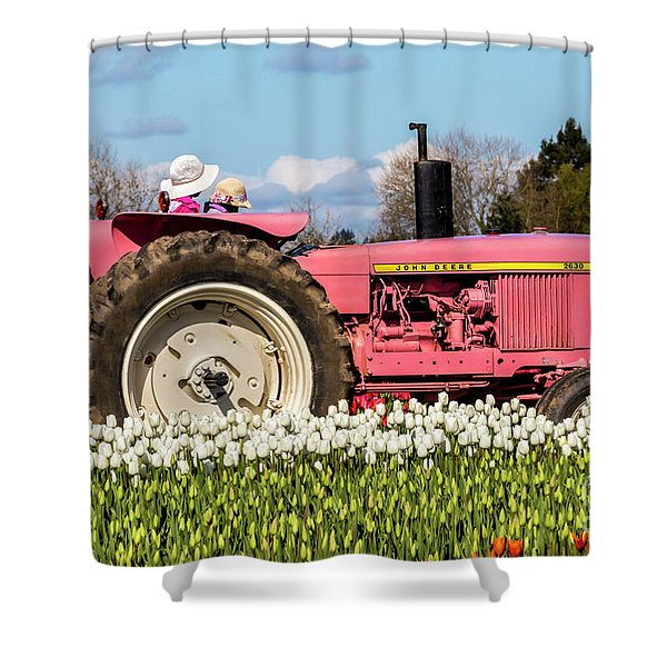 On The Field Of Beauty Shower Curtain