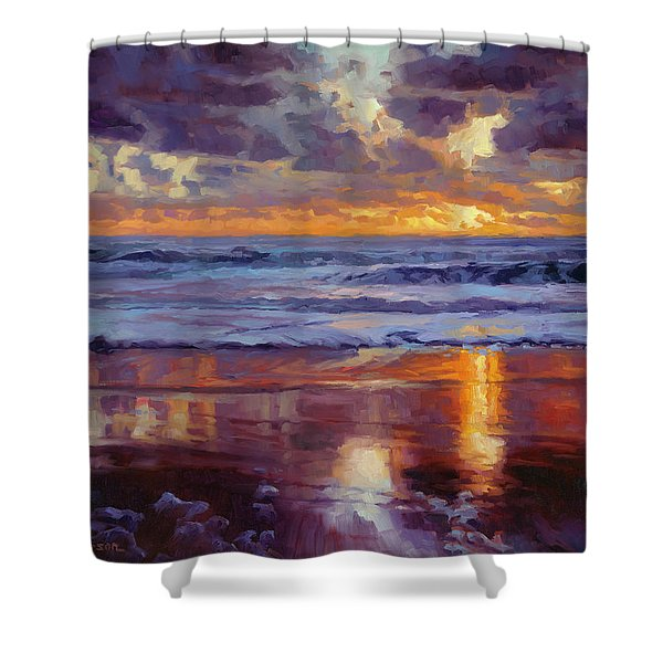On The Horizon Shower Curtain