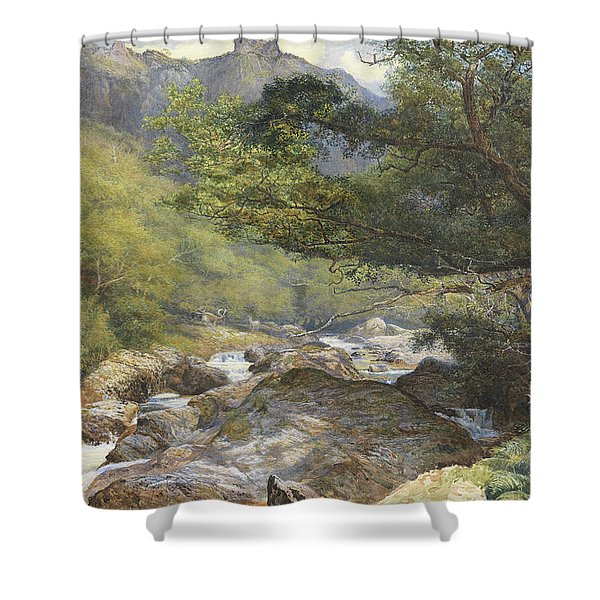 On The Lyn, North Devon Shower Curtain