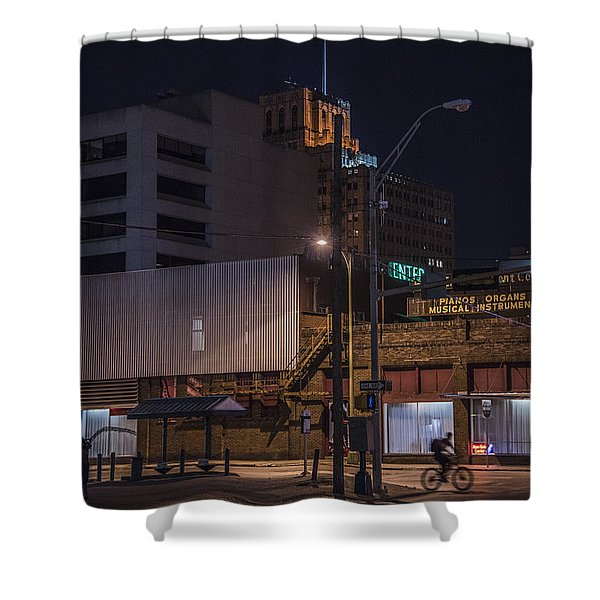 Shower Curtain featuring the photograph On The Move by Break The Silhouette