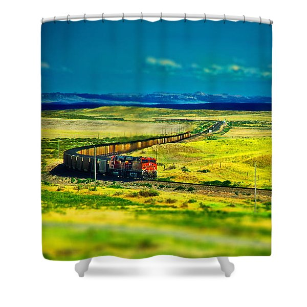 On The Rails Shower Curtain
