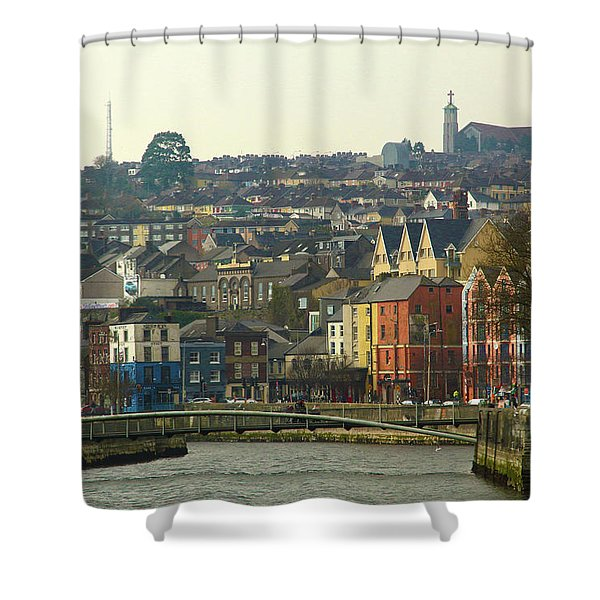 On The River Lee, Cork Ireland Shower Curtain