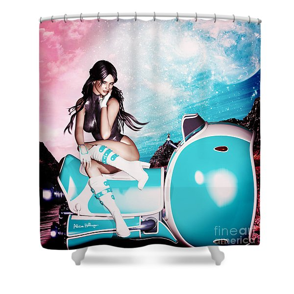 On The Road 3052 Shower Curtain