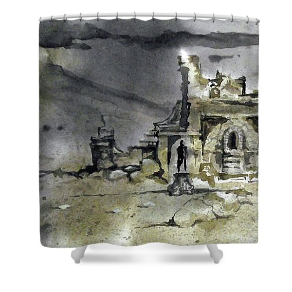 On The Road II Shower Curtain