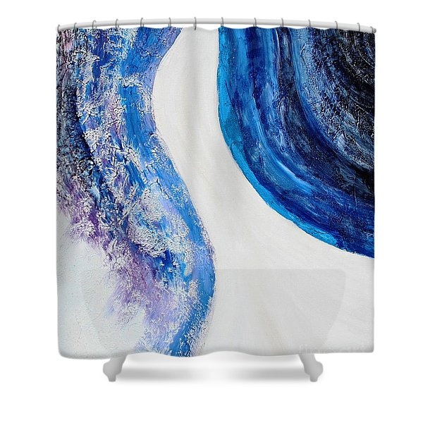 On The Road In Blue Shower Curtain