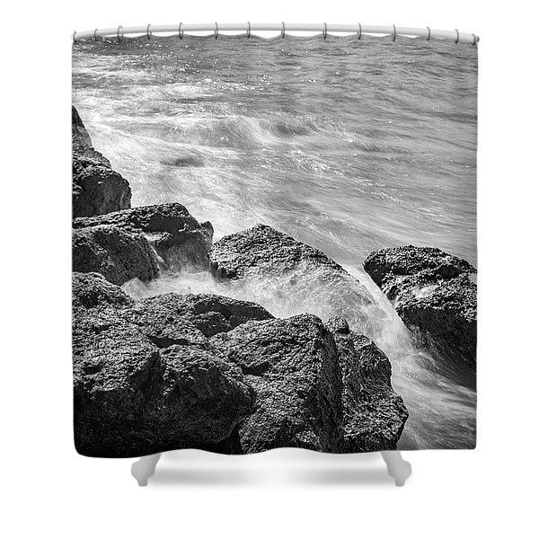 Ocean Rocks Shower Curtain