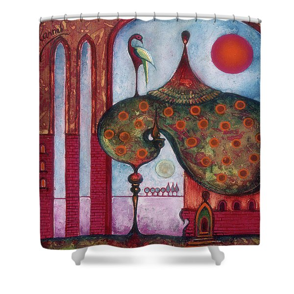 On The Rooftop Of The World Shower Curtain