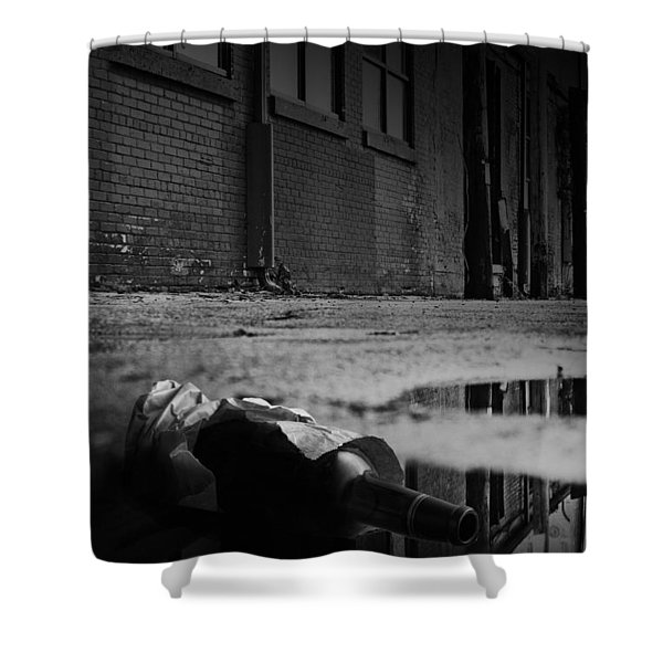 On The Seamy Side Of Town Shower Curtain