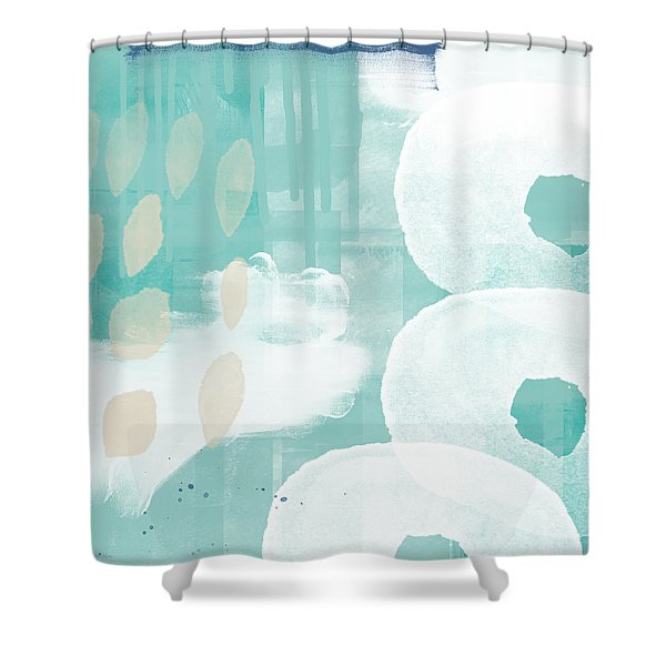 On The Shore- Abstract Painting Shower Curtain