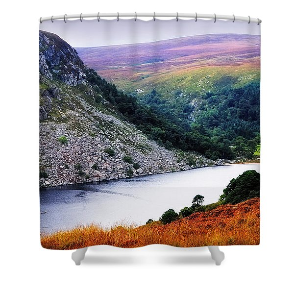 On The Shore Of Lough Tay. Wicklow. Ireland Shower Curtain
