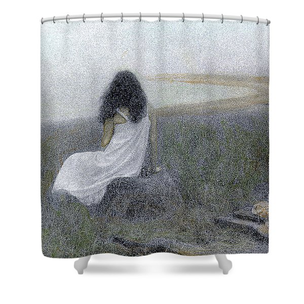 On The Vineyard Shower Curtain