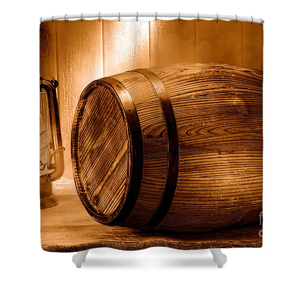 On The Waterfront - Sepia Shower Curtain