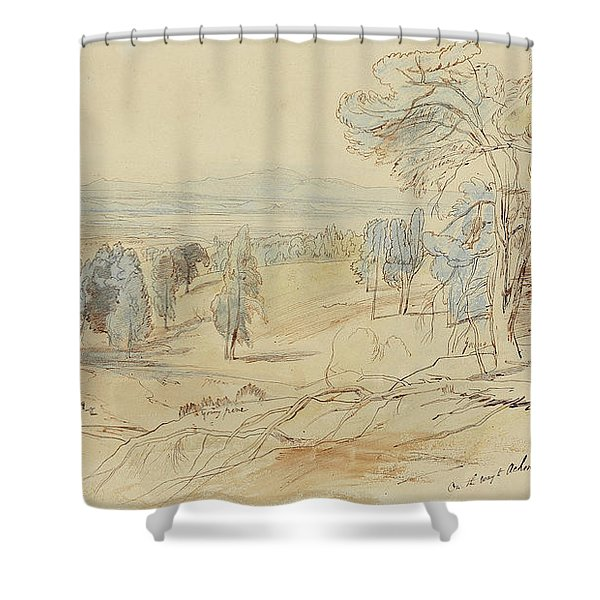 On The Way To Achmet Aga From Castella And Chalcis, Greece, 23 June 1848 Shower Curtain