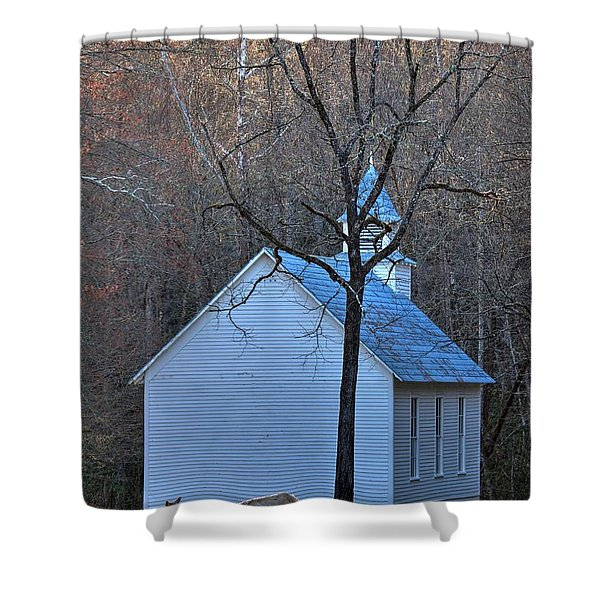 On The Way To Church Shower Curtain