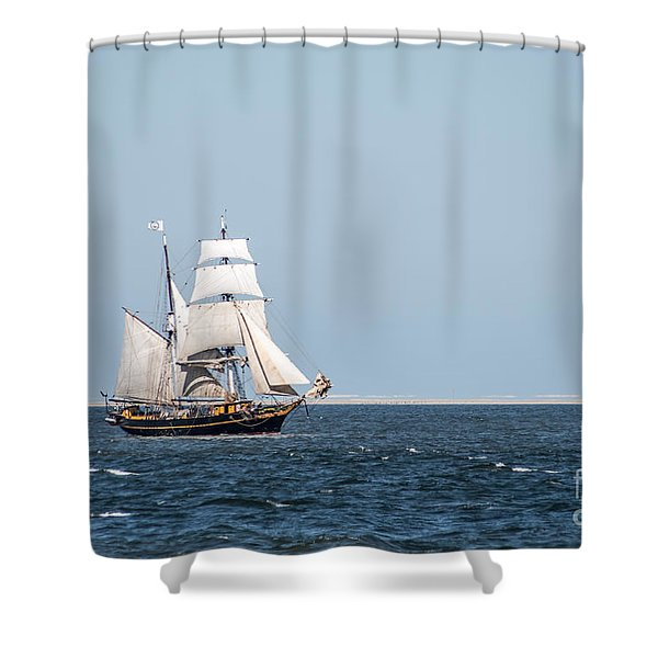 on the way to Texel Shower Curtain