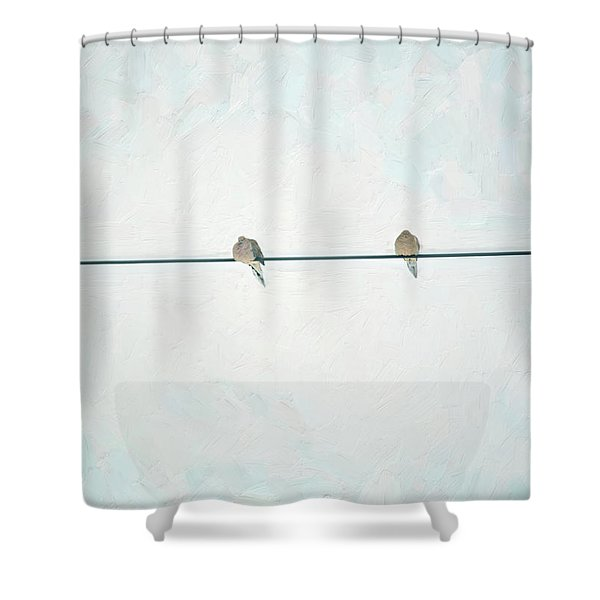On The Wire Shower Curtain