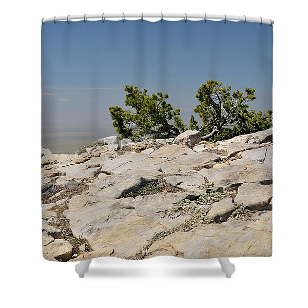 On Top Of Sandia Mountain Shower Curtain