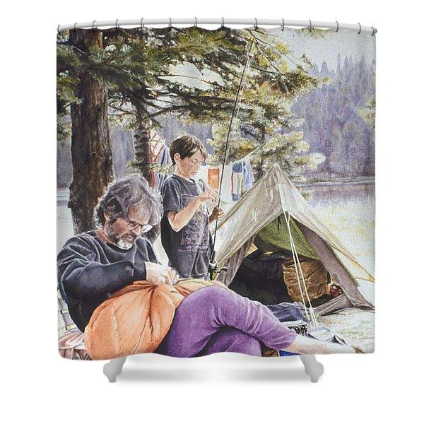 On Tulequoia Shore Shower Curtain