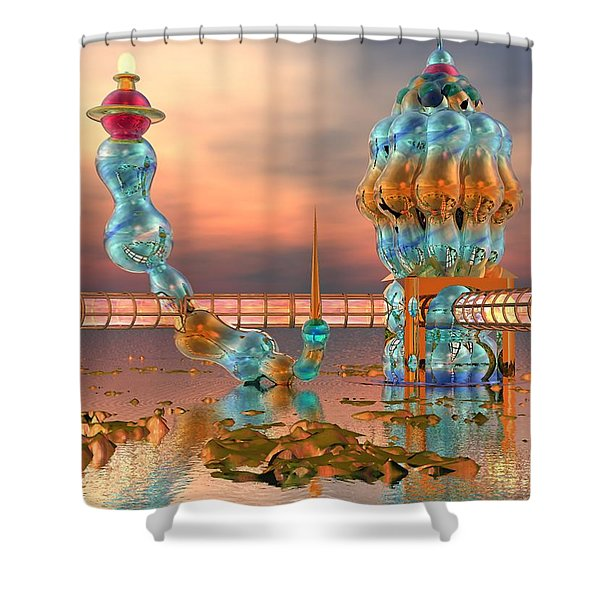 On Vacation Shower Curtain