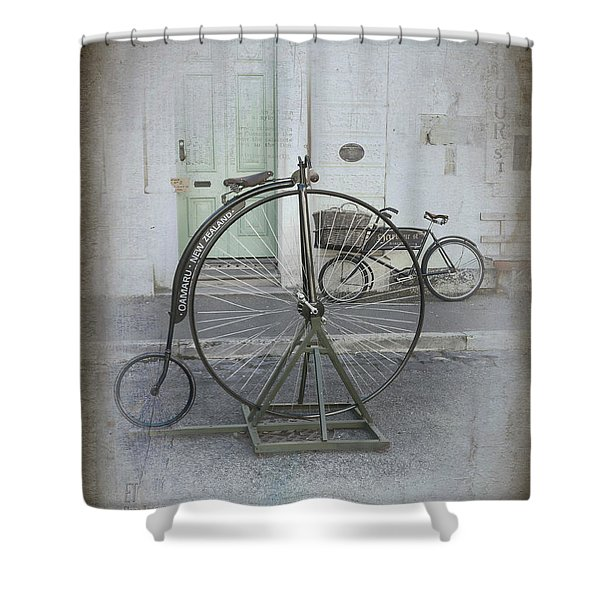 On Your Bike Shower Curtain