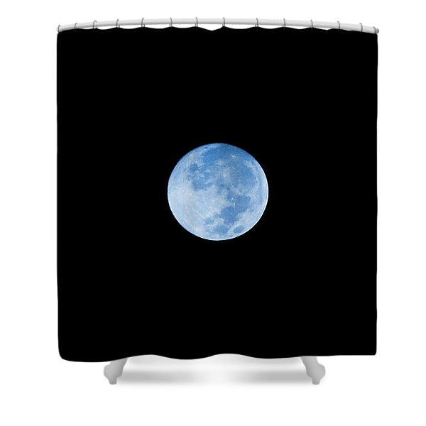 Once In A Blue Moon Shower Curtain