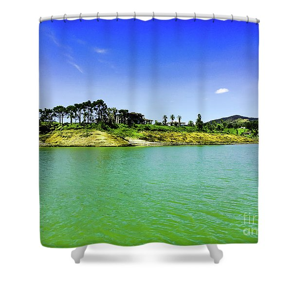 Once Upon A Crime Shower Curtain