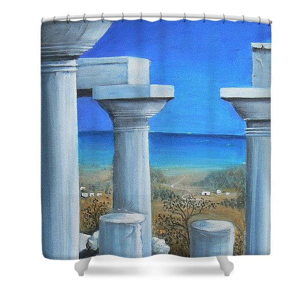 Once Upon A Time In Greece Shower Curtain
