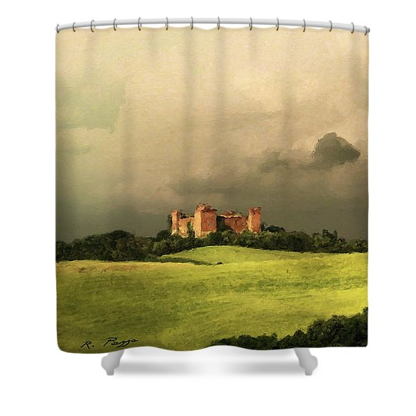 Shower Curtain featuring the mixed media Once Upon A Time In Tuscany by Rosario Piazza