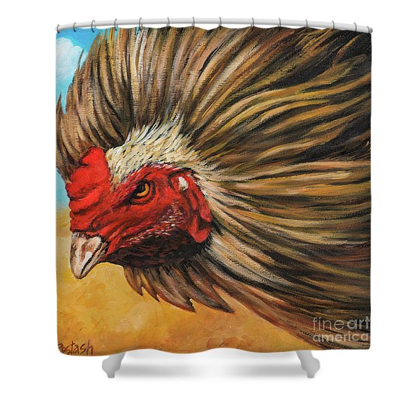 One Angry Ruster Shower Curtain