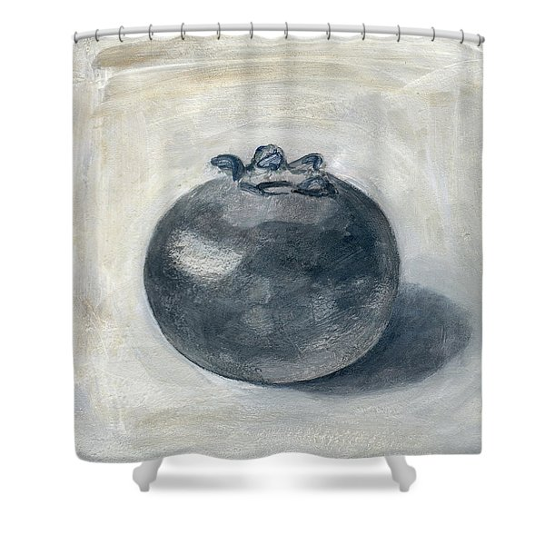One Blueberry Shower Curtain