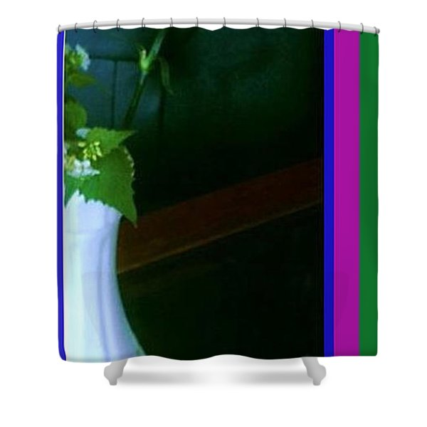 One Carnation And One Rose Bud Shower Curtain