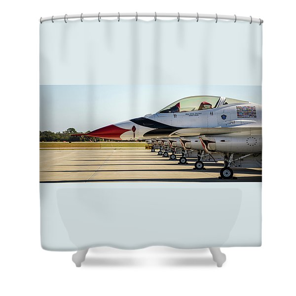 One Jet Or Seven Shower Curtain