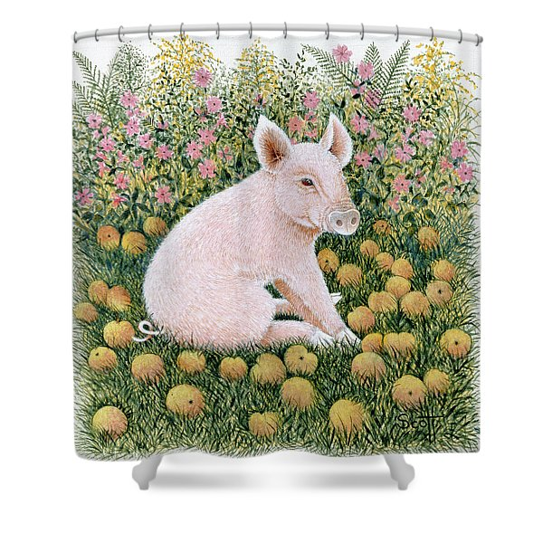 One More Apple Shower Curtain