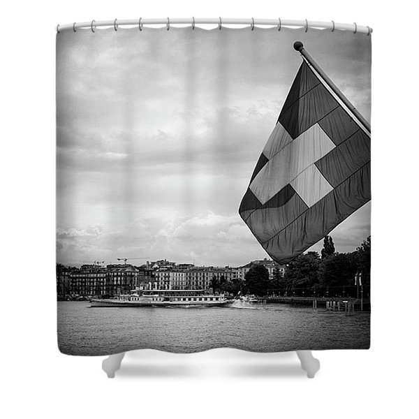 One More Day In Switzerland Until I Fly Shower Curtain