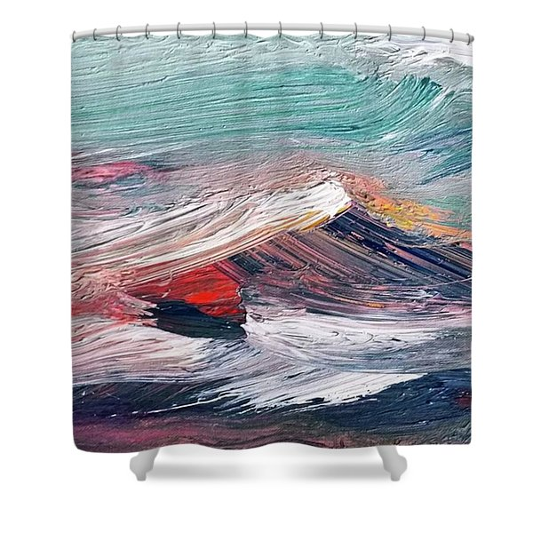 Wave Mountain Shower Curtain