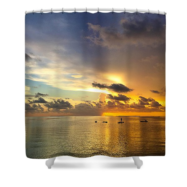 One Summer Night... Shower Curtain