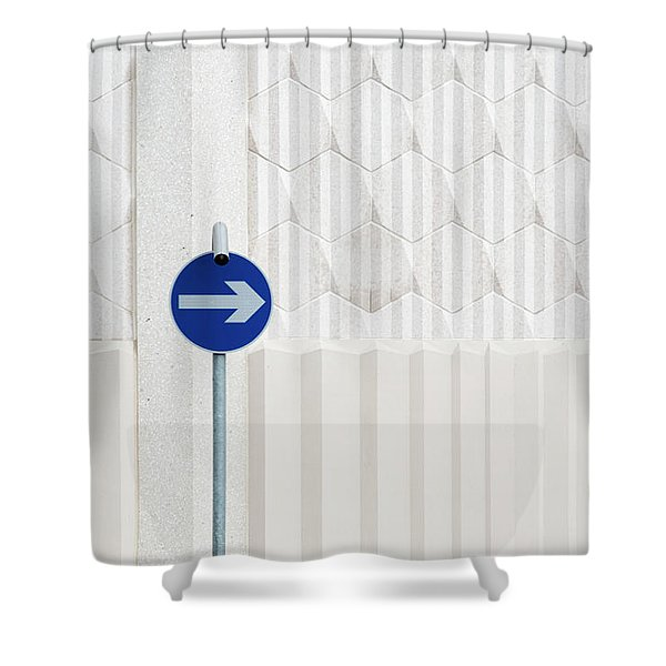 One Way 2 Shower Curtain