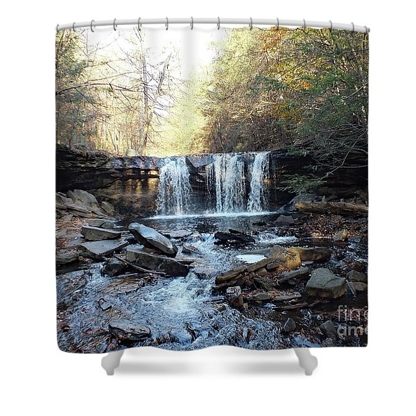 Oneida Falls 2 - Ricketts Glen Shower Curtain