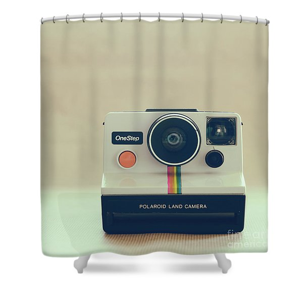 Onestep Polaroid Shower Curtain